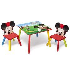 3-tlg. Tisch und Stuhl-Set Mickey