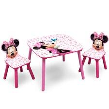 3-tlg. Tisch und Stuhl-Set Minnie