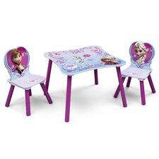 3-tlg. Tisch und Stuhl-Set Frozen