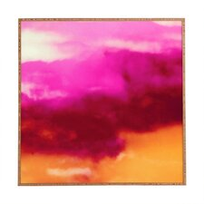 'Cherry Rose Painted Clouds' Framed Painting Print