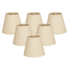 "6"" Silk Empire Lamp Shade (Set of 6)"