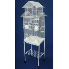 Pagoda Top Small Bird Cage with Stand