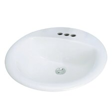 Preston Drop-in Self Rimming Bathroom Sink with Faucet Center 8""