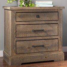 Buford 3 Drawer Nightstand
