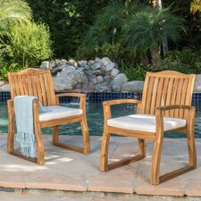 Burcham Dining Arm Chair with Cushion (Set of 2)