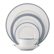 Grosgrain Bone China 5 Piece Place Setting, Service for 1