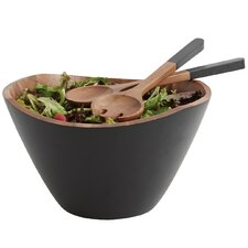 Woodbine Acacia 3 Piece Salad Bowl and Server Set