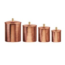 Caraway 4 Piece Kitchen Canister Set