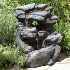 Stone Polyester Resin Water Fountain with Light