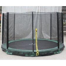 Inground 12' Round Trampoline with Safety Enclosure