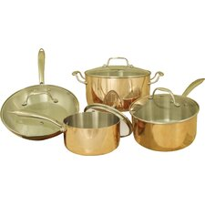 Professional Quality Copper Tri-Ply 8 Piece Cookware Set