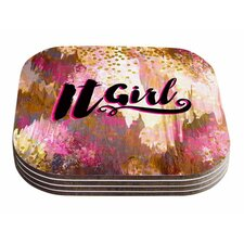 It Girl-Black And Pink by Ebi Emporium Coaster (Set of 4)
