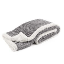 Popcorn and Sherpa Baby Blanket
