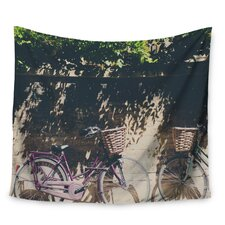Pretty Bicycles by Laura Evans Wall Tapestry