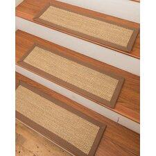 Dean Modern Diy Bullnose Wraparound Non Skid Carpet Stair Treads Caramel Scroll Border