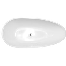 "59"" x 29.5"" Freestanding Soaking Bathtub"