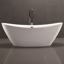 "71"" x 34"" Freestanding Soaking Bathtub"