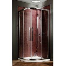 90cm W x 76cm D x 195cm H Offset Quadrant Sliding Door Shower Enclosure