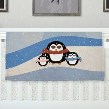 'Cute Penguins' By Cristina Bianco Design Fleece Baby Blanket