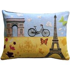 Summer in Paris Lumbar Pillow