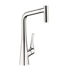 Metris HighArc Single Handle Pull Down Kitchen Faucet with Spray