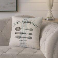 Murier Paris Cafe Linen Throw Pillow