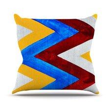 Zig Zag Outdoor Throw Pillow