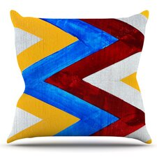 Zig Zag by Brittany Guarino Outdoor Throw Pillow