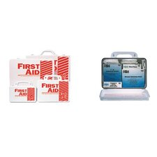 10 Person Contractor's First Aid Kits - weatherproof plastic basix #10 first aid kit