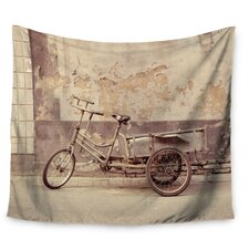 The Gray Bicycle by Jillian Audrey Wall Tapestry