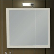 "Luna 30.9"" x 27.7"" Surface Mounted Medicine Cabinet with Lighting"
