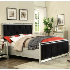 Sofia Mock Croc Velvet Upholstered Bed