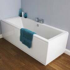 Asselby Eternalite Square Double Ended Standard Soaking Bathtub