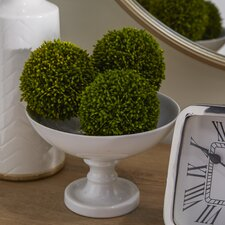Faux Ball Decor Round Topiary (Set of 3)