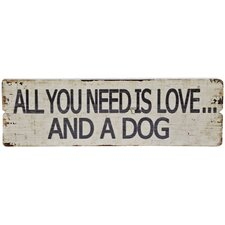 All You Need Wall Plaque