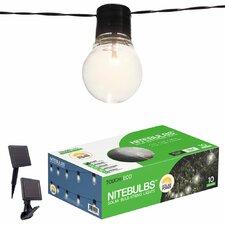 Nitebulbs Solar 10-Light Globe String Lights