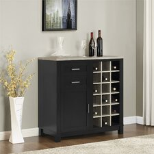 Callowhill Bar Cabinet with Wine Storage