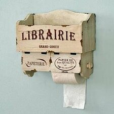 Librarie Wall Mounted Toilet Roll Holder