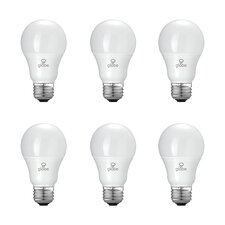 60W Equivalent Soft White (3000K) A19 LED Light Bulb (Set of 6)