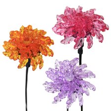 Mini Solar Bergamot Flower Stake (Set of 3)