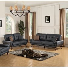 Wintersburg Leather Sofa and Loveseat Set