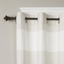Bell Single Curtain Rod and Hardware Set