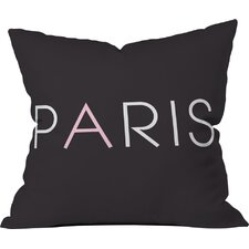 Paris Is For Me Polyester Throw Pillow