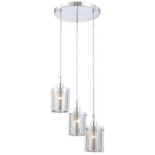 Grid II 3-Light Cascade Pendant