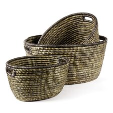 3 Piece Round Basket Set