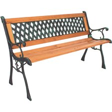Gartenbank Windsor aus Metall und Holz