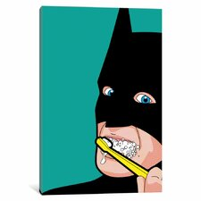 """'Bat-Brush' by Gregoire """"Leon"""" Guillemin Graphic Art on Wrapped Canvas"""