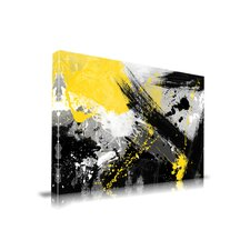 'Yellow Jacket' Abstract Painting Print on Wrapped Canvas
