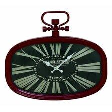 Metal Oval Wall Clock
