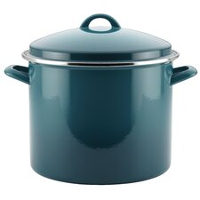 Enamel on Steel 12 Quart Covered Stockpot with lid